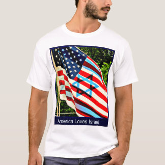 Israeli and American Flag T-Shirt