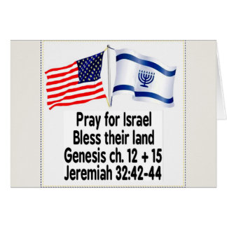 Israeli Flag/American Flag cards