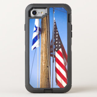 Israeli Flag and American Flag OtterBox Defender iPhone 7 Case