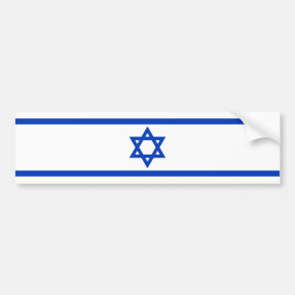 Israeli Flag Bumper Sticker