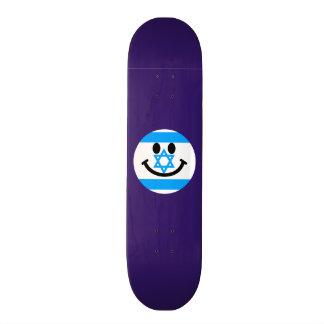 Israeli flag smiley face 18.1 cm old school skateboard deck