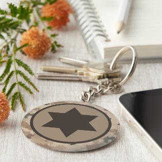 Israeli IAF Star of David Roundel - Desert Key Ring
