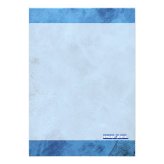Israeli name and flag on cool wall 13 cm x 18 cm invitation card