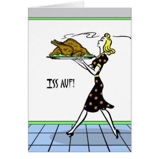 Iss Auf! Eat Up! German Thanksgiving, Vintage Card