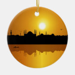 Istanbul and sunset christmas ornaments