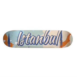 Istanbul Aya Sophia Mosque vintage travel poster Skate Board Deck