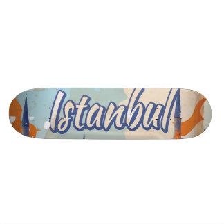 Istanbul Aya Sophia Mosque vintage travel poster Skate Board