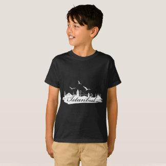 Istanbul Bosphorus Bridge Black T-Shirt for Kids