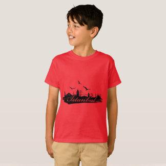 Istanbul Bosphorus Bridge Red T-Shirt for Kids