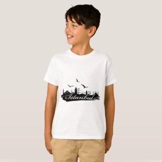 Istanbul Bosphorus Bridge White T-Shirt for Kids