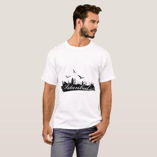 Istanbul Bosphorus Bridge White T-Shirt for Men