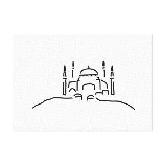 istanbul hagia sophia mosque canvas print