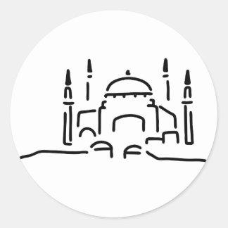 istanbul hagia sophia mosque classic round sticker