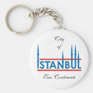 istanbul_logo, City of, Two Continents Basic Round Button Key Ring