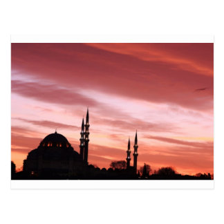 Istanbul-Mosque silhouette Postcard