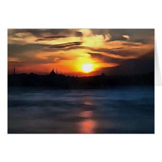 Istanbul Skyline Card