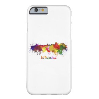 Istanbul skyline in watercolor barely there iPhone 6 case