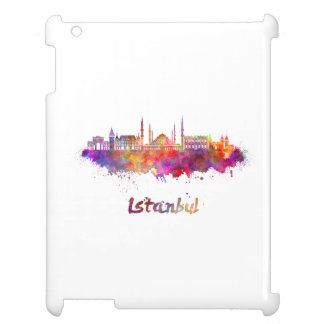 Istanbul skyline in watercolor cover for the iPad 2 3 4