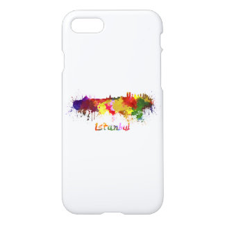 Istanbul skyline in watercolor iPhone 8/7 case