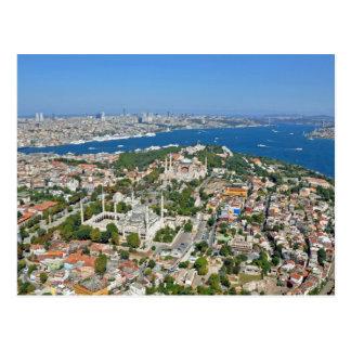 Istanbul - Sultanahmet (Aerial view) Postcard