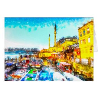 Istanbul Turkey Art Card