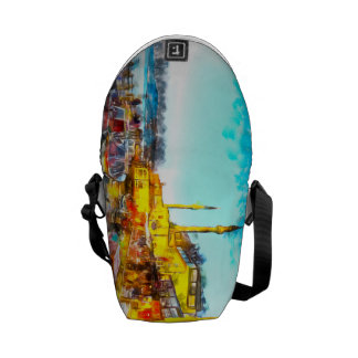 Istanbul Turkey Art Courier Bag