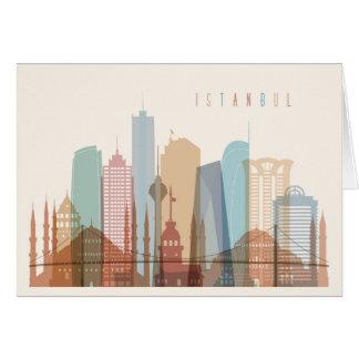 Istanbul, Turkey | City Skyline Card