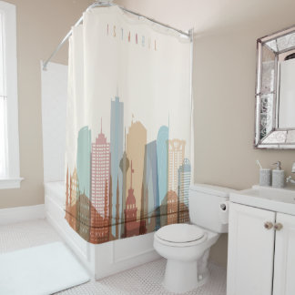 Istanbul, Turkey | City Skyline Shower Curtain