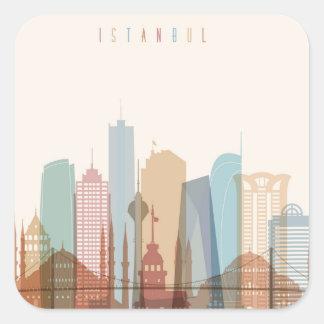 Istanbul, Turkey | City Skyline Square Sticker