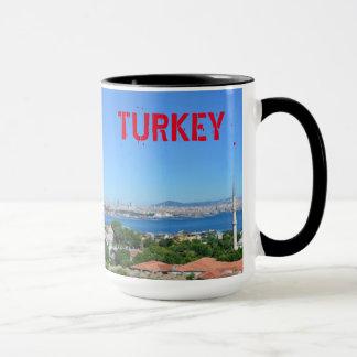 Istanbul Turkey Panoramic Ringer Mug