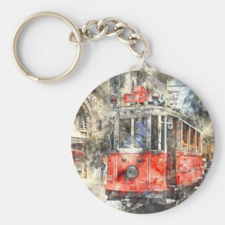 Istanbul Turkey Red Trolley Key Ring