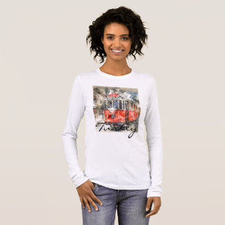 Istanbul Turkey Red Trolley Long Sleeve T-Shirt