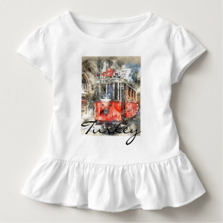 Istanbul Turkey Red Trolley Toddler T-Shirt