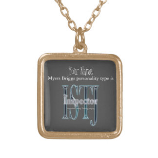 ISTJ theInspector Gold Plated Necklace