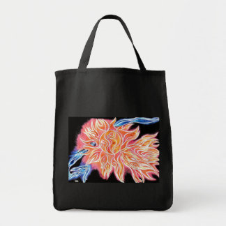 iSun Abstract Electric Sun and Comet Tote 2 Canvas Bag