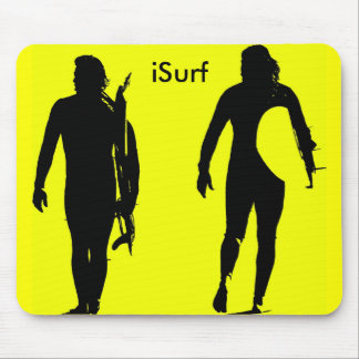 iSurf Yellow Mouse Pad