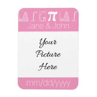 It Adds Up in Petal Pink Save-the-Date Magnet Flexible Magnets