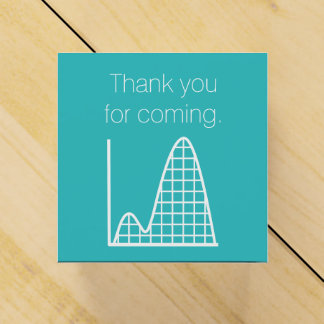 It Adds Up in Turquoise Favor Box