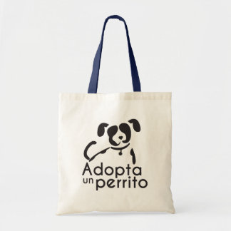 It adopts a small dog fabric stock market tote bag