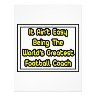 It Aint' Easy...World's Greatest Football Coach Full Color Flyer