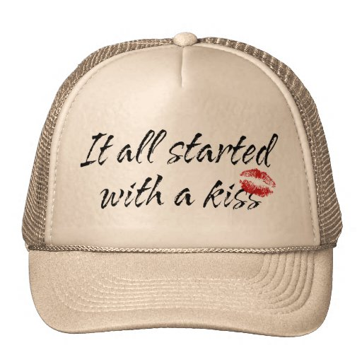 It All Started With A Kiss Maternity Hats