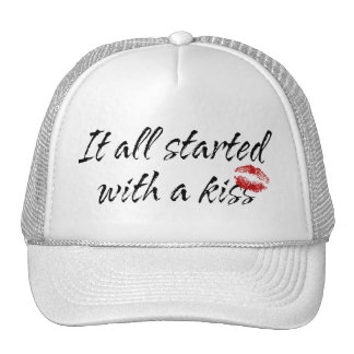 It All Started With A Kiss Maternity Mesh Hats
