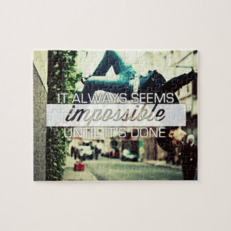 It Always Seems Impossble - Motivational Quote Puzzles