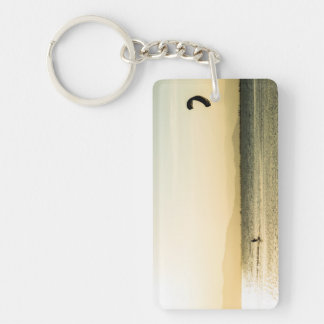 It annoys kitesurfing Double-Sided rectangular acrylic key ring