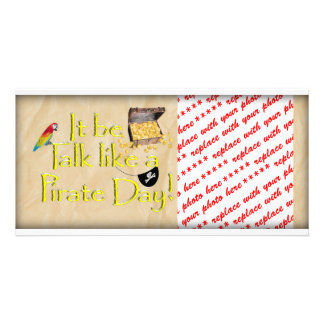 It Be Talk Like A Pirate Day! Photo Card Template