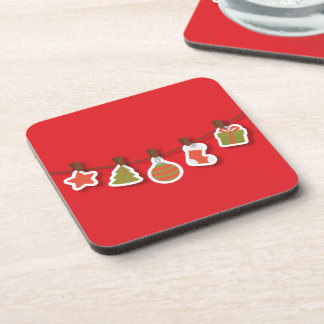 It carries Christmas Glasses Details Beverage Coasters