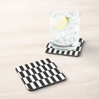 It carries Glasses Black and white Drink Coasters