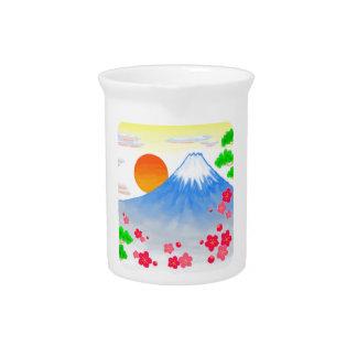 It comes with Mt.Fuji Mt. Fuji, light Pitcher