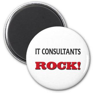 It Consultants Rock Refrigerator Magnet