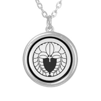 It descends to the circle, the rattan silver plated necklace